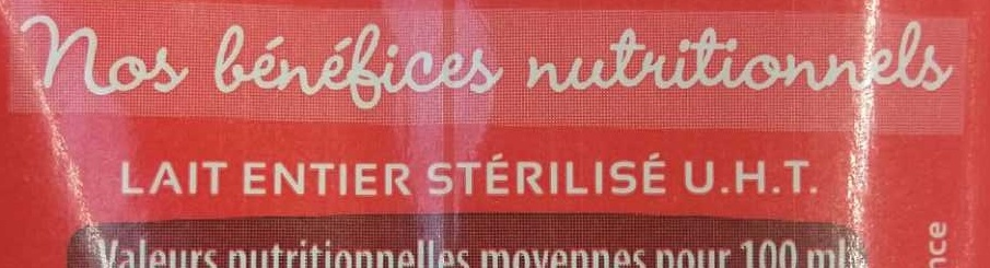 Mon lait entier - Ingrediënten - fr