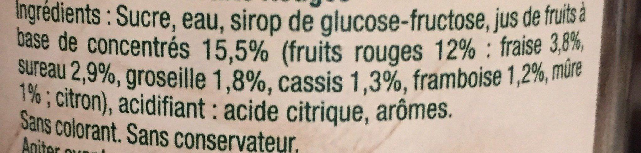 Cocktail de fruits rouges - Ingrédients - fr