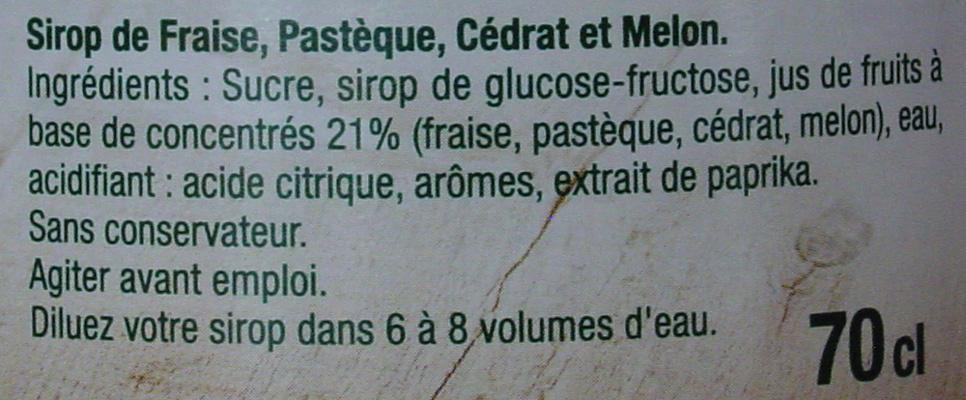 Recette Provençale - Ingrediënten - fr