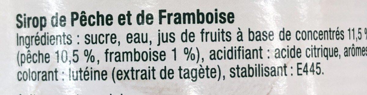 Sirop de Pêche et touche de Framboise - Ingrédients - fr