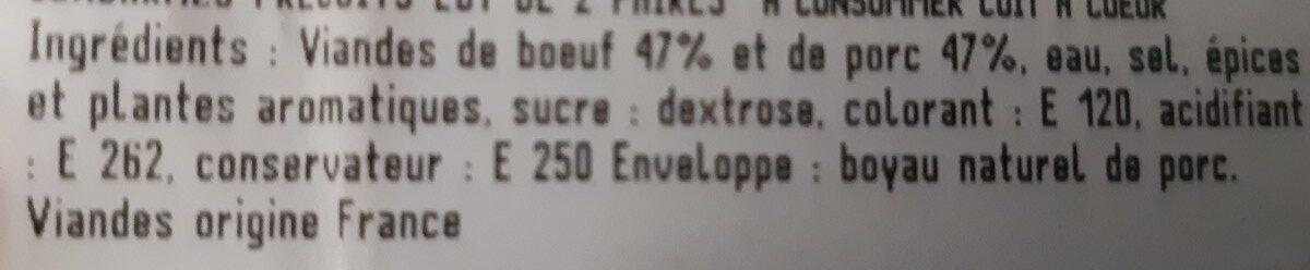 Gendarmes - Ingrediënten - fr