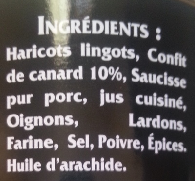 Cassoulet au Confit de Canard - Ingrediënten