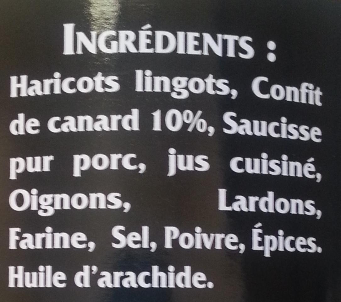 Cassoulets au Confit de Canard (Lot de 2) - Ingrédients