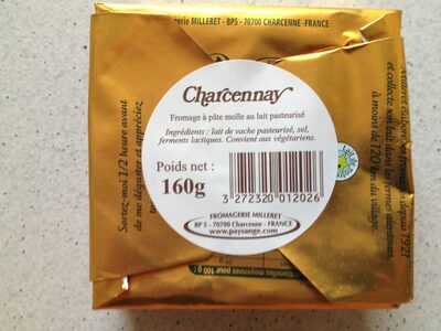Charcennay (30% MG) - Ingrédients