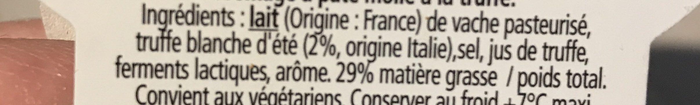 L'Ortolan Truffe 29% M.G. - Ingrédients - fr