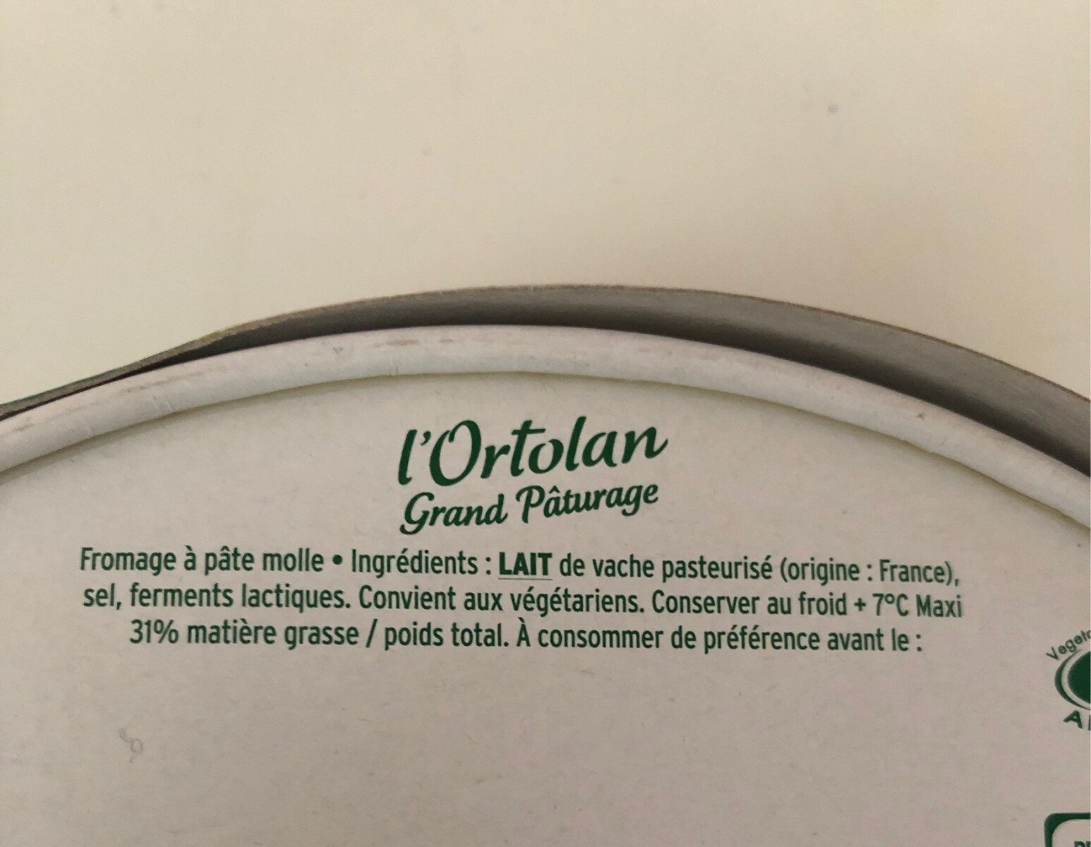 L'Ortolan Grand Pâturage - Ingrédients - fr
