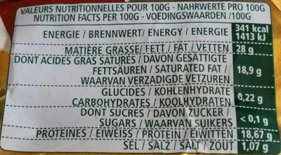 L'Ortolan Familial, Doux & Nature - Informations nutritionnelles - fr