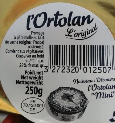 Ortolan - Ingredients - fr