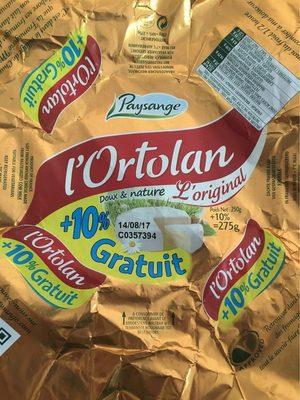 L'ortolan +10% - Product