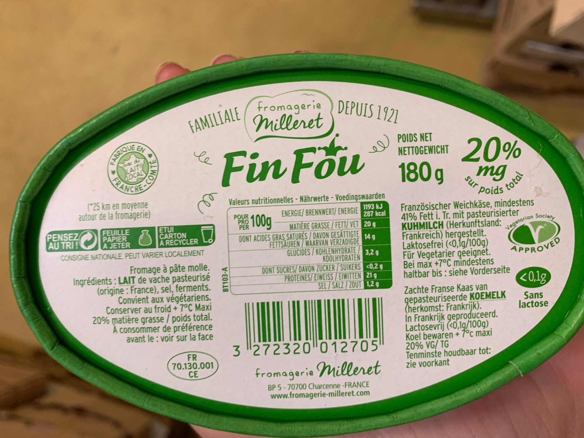 Fin fou - Informations nutritionnelles