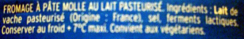 Crèmeux Fou - Ingrédients
