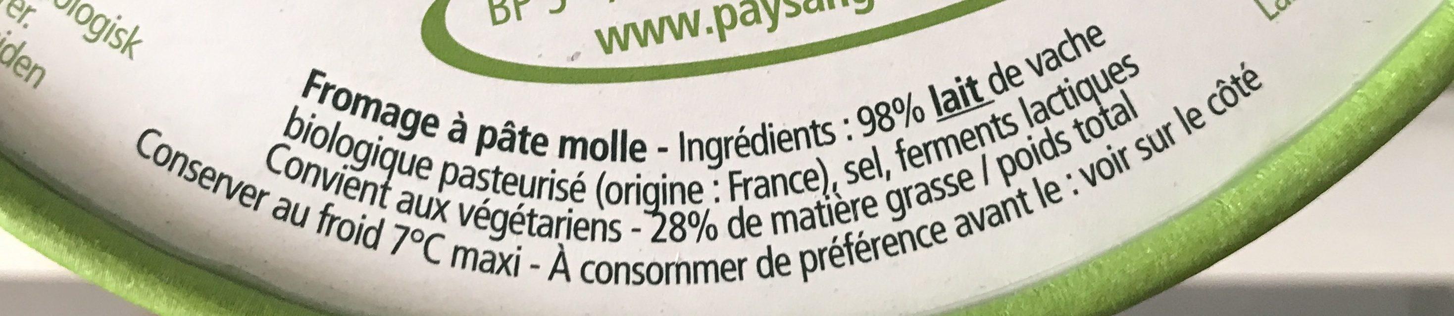 L'Ortolan Bio portions - Ingrédients - fr