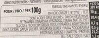 Milleret Ser Francuski Roucoulons - Informations nutritionnelles - fr