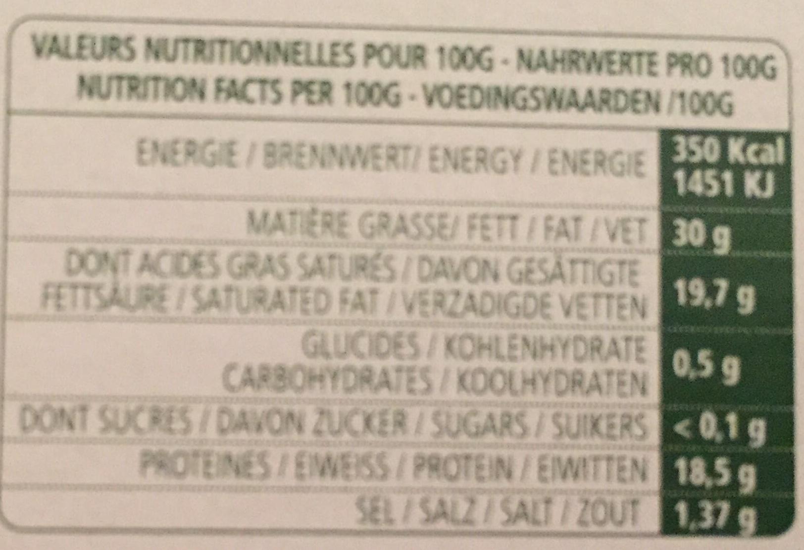 Roucoulons Fondant et typé - Informations nutritionnelles - fr