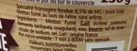 La Cancoilllotte Fumée - Ingredients - fr