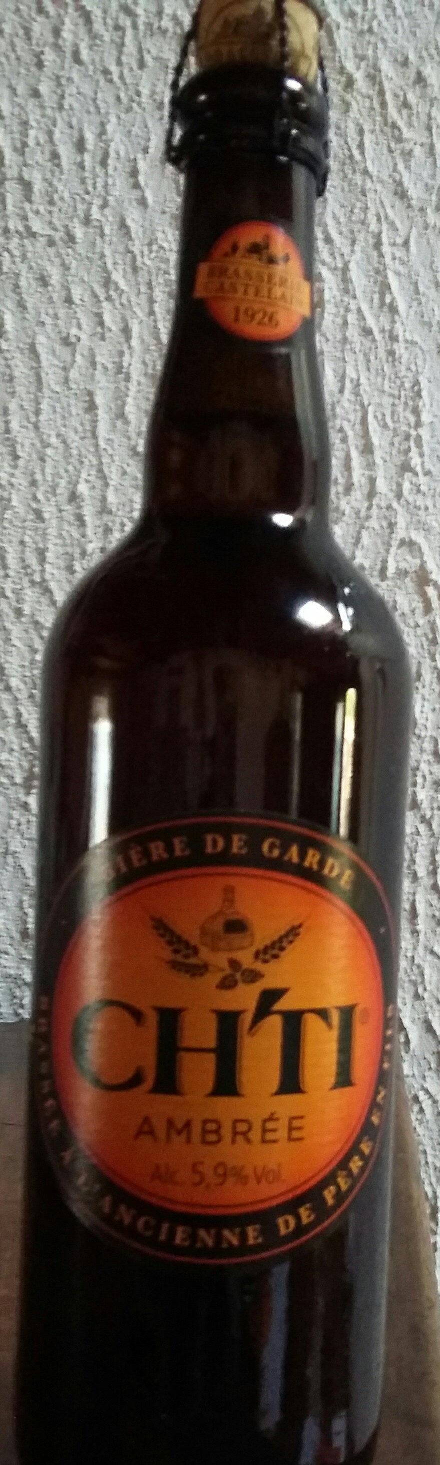 Ch'ti Bière Ambrée 5, 9° -75cl - Product - fr