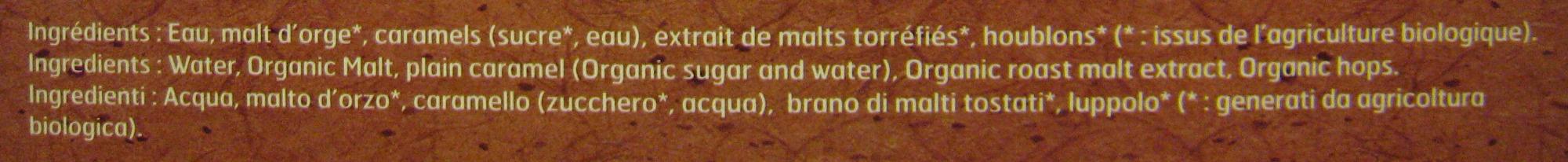 Bière ambrée malt bio Jade - Ingrediënten
