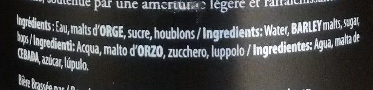 Pale Ale - Ingrédients