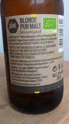 Bière pur malt blonde - 2