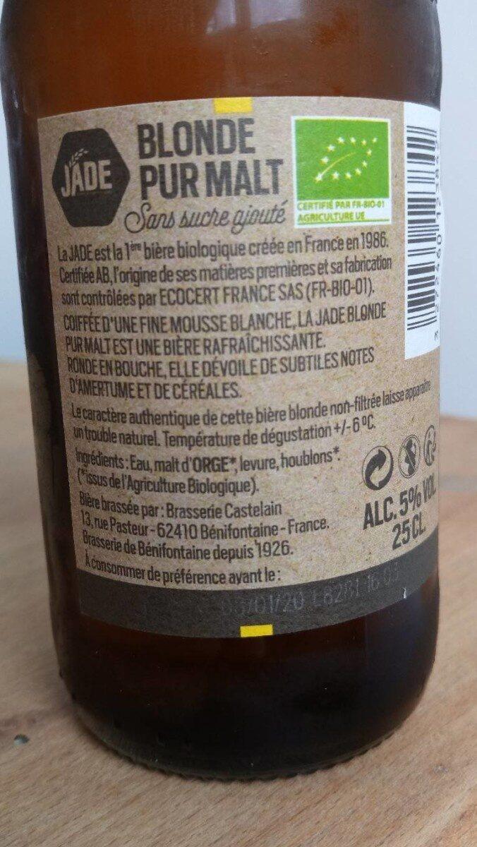 Bière pur malt blonde - Ingrediënten - fr