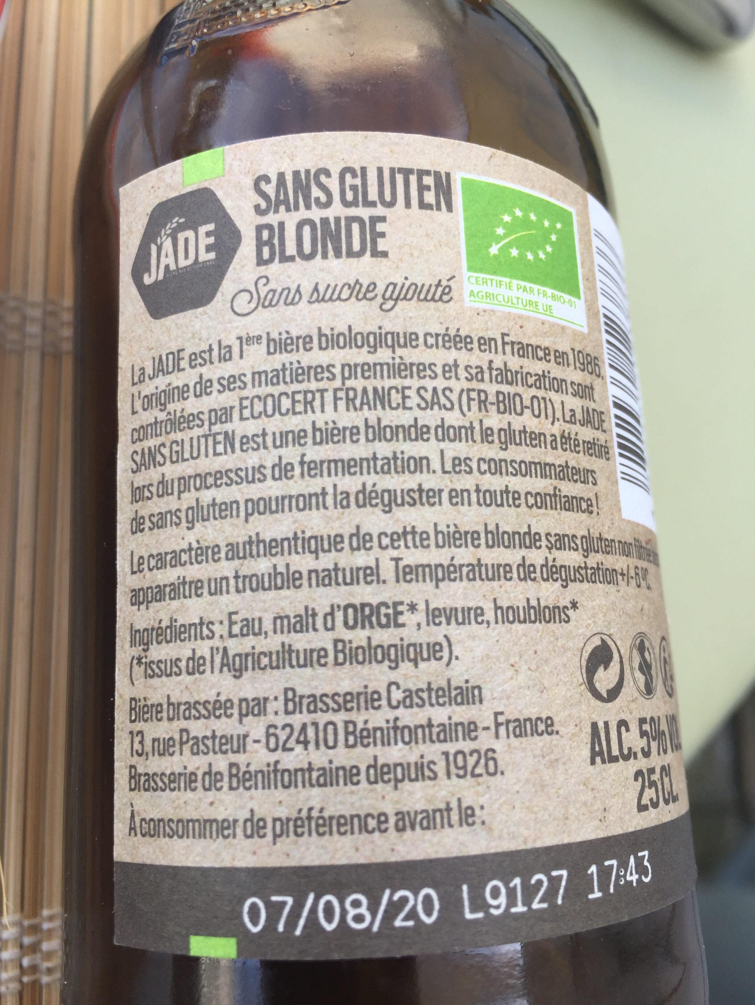Biere blonde sans gluten - Ingrediënten