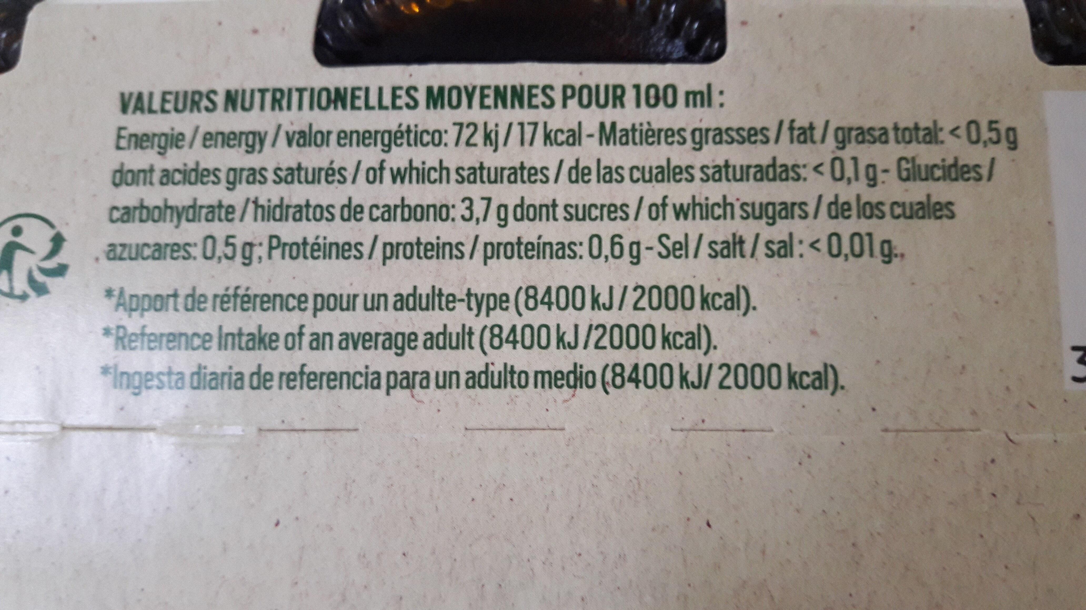 Jade biere sans alcool - Voedingswaarden - fr