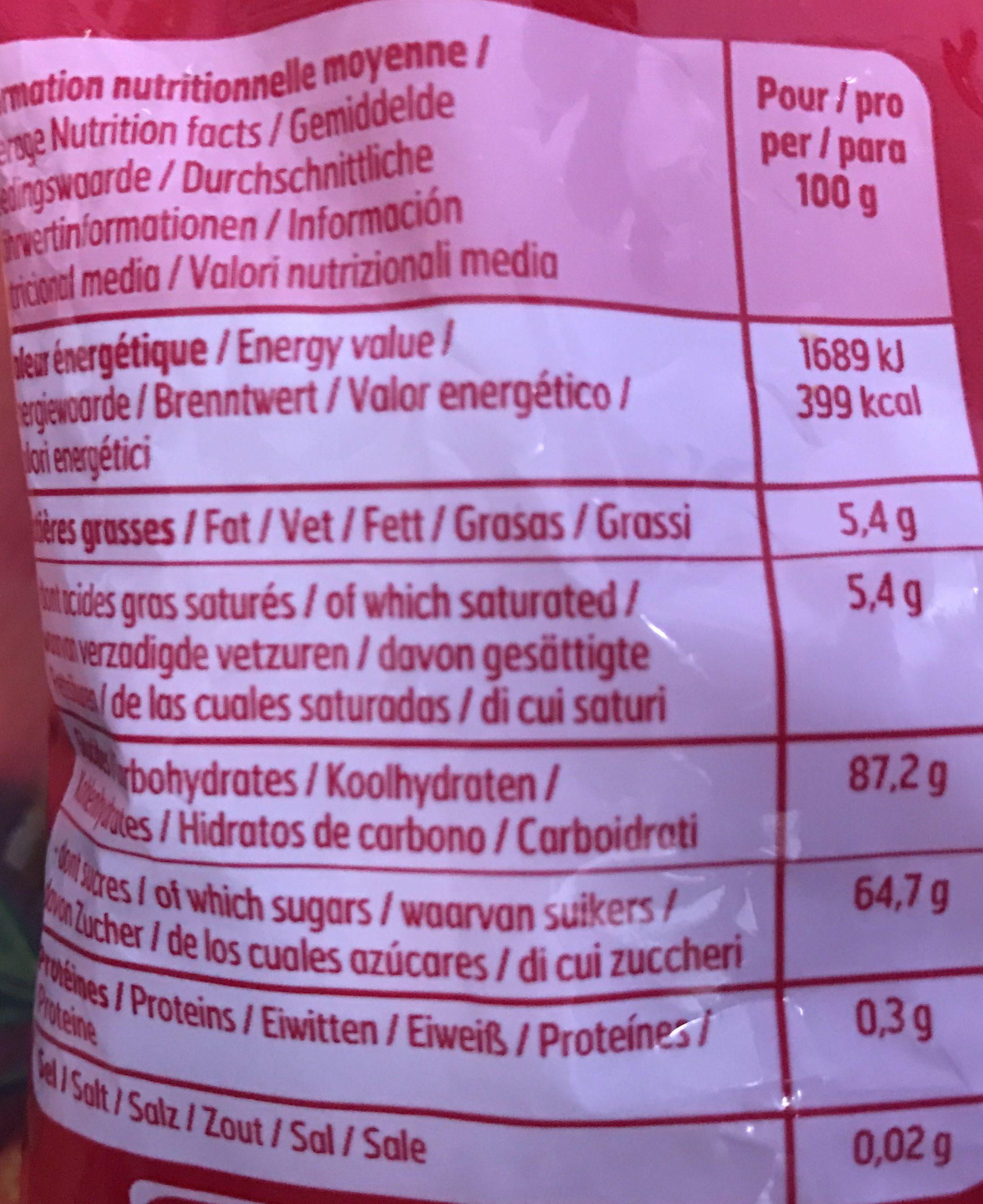 Fraisoo' Bool - Voedingswaarden - fr