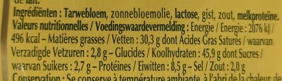 Croûtons Natures - Informations nutritionnelles - fr