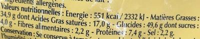 Croûtons goût ail - Informations nutritionnelles - fr
