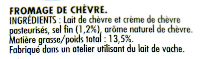 Chavroux Pur Chèvre - Ingrediënten - fr