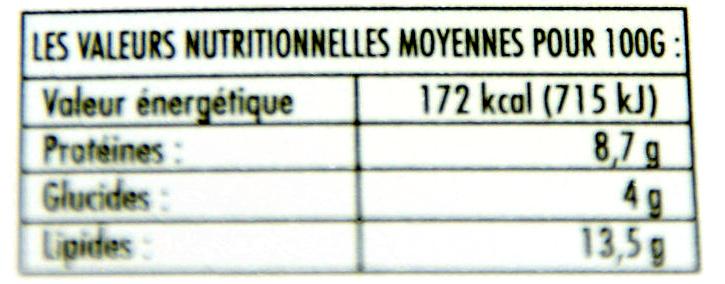 100% ZIEGENMILCH MILDER ZIEGENKÄSE  Käse - Informazioni nutrizionali