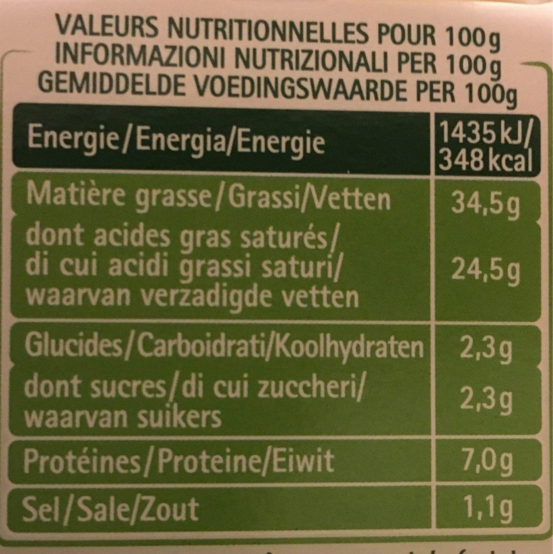 L'original Tartare - Informations nutritionnelles - fr