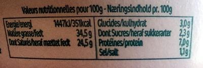 L'original Tartare Ail & Fines Herbes - le petit pot - Nutrition facts - fr