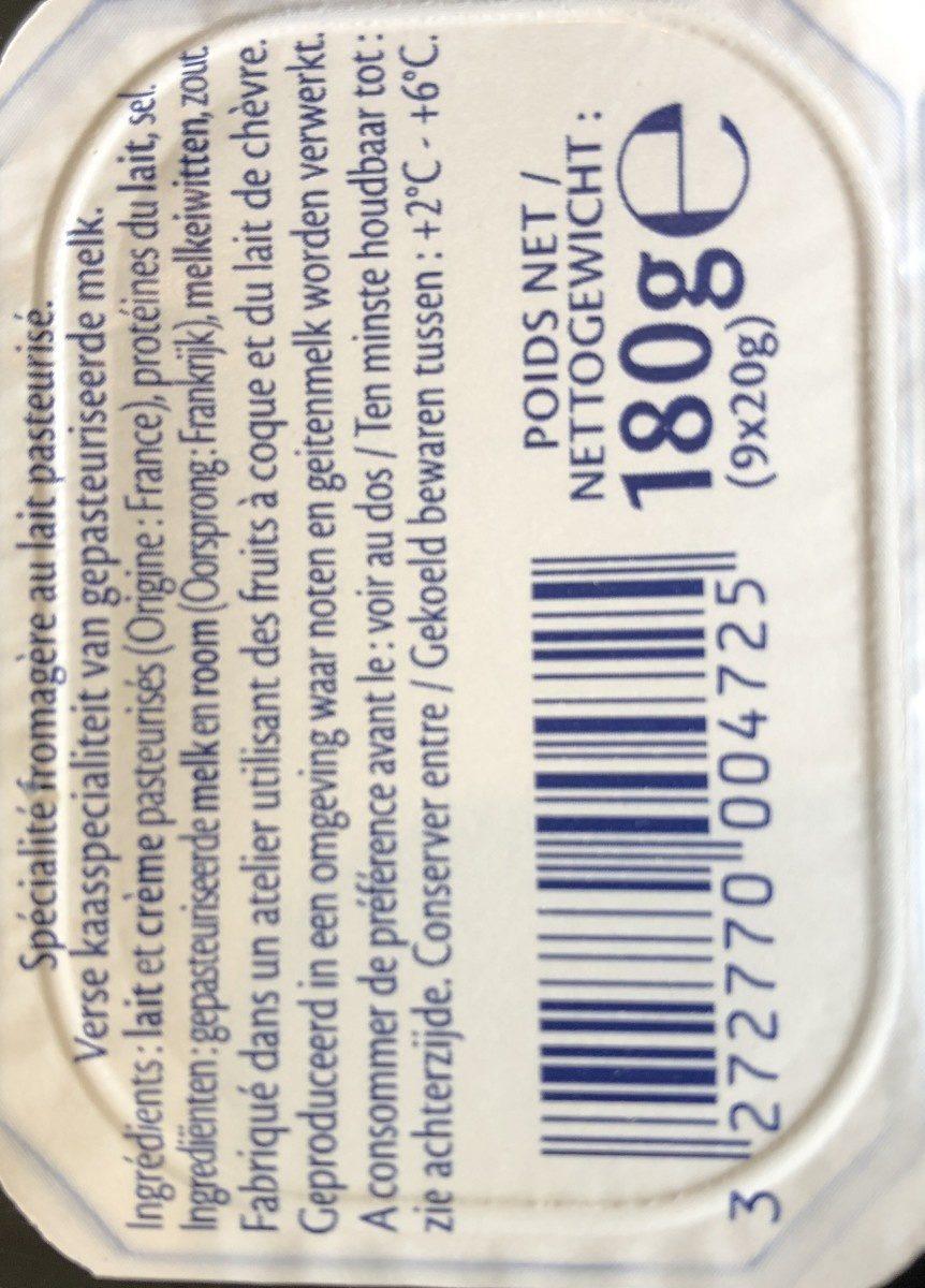 9 Minis St Moret (17,8% MG) - Ingredientes