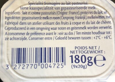 9 Minis St Moret (17,8% MG) - Ingrediënten - fr