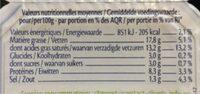 9 Minis St Moret (17,8% MG) - Voedingswaarden - fr