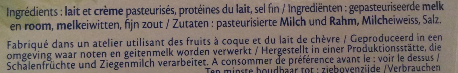 Le Goût Primeur (17,5 % MG) - Ingrédients - fr