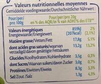 Le Goût Primeur - Fromage - Voedingswaarden - fr