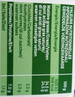 L'original Ail & Fines herbes - Nutrition facts