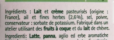 Tartare - Ingrédients - fr