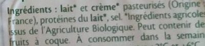 Minis St Môret bio - Ingrédients