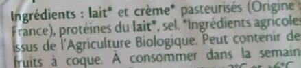 St Môret Bio - Ingrédients - fr