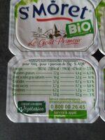 St Môret Bio - Informations nutritionnelles - fr