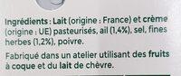 Tartare Ail & Fines herbes - Ingredienti - fr