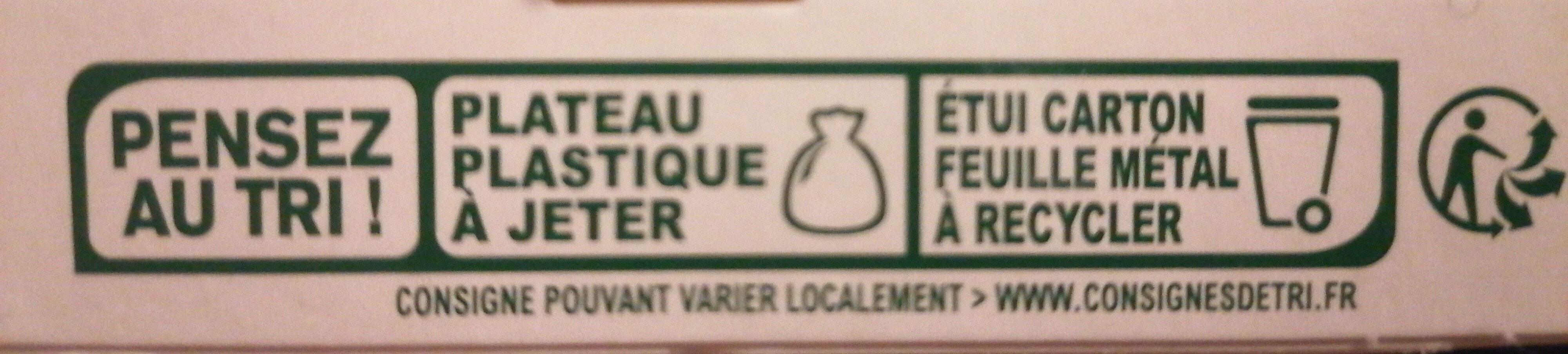 Tartare Ail & Fines herbes - Istruzioni per il riciclaggio e/o informazioni sull'imballaggio - fr