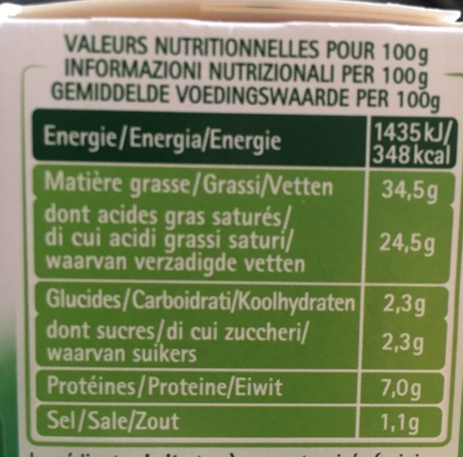 Tartare Ail & Fines Herbes - Informations nutritionnelles - fr