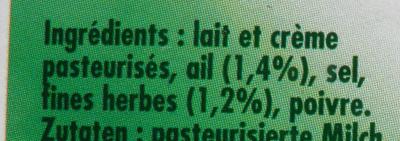 L'Original Tartare, Ail & Fines Herbes (8 portions) - (32,2 % MG) - Ingredients - fr