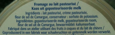 Le Moulé à la Crème, Fleur de Sel (36,5 % MG) - Ingrédients - fr