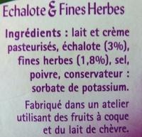 Tartare, échalotes et fines herbes - Ingrediënten