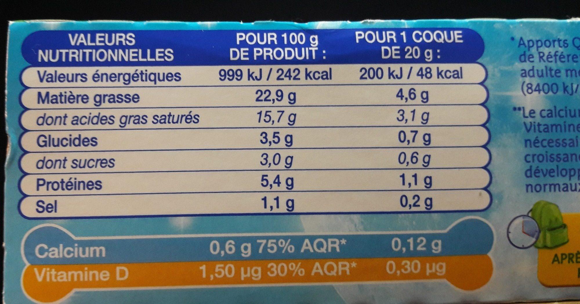 P'tit Louis (26% MG) - Informations nutritionnelles - fr